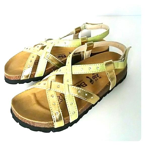 e62f50744ba703 Birkenstock Shoes - NEW Betula Birkenstock Gold sandals Slingback